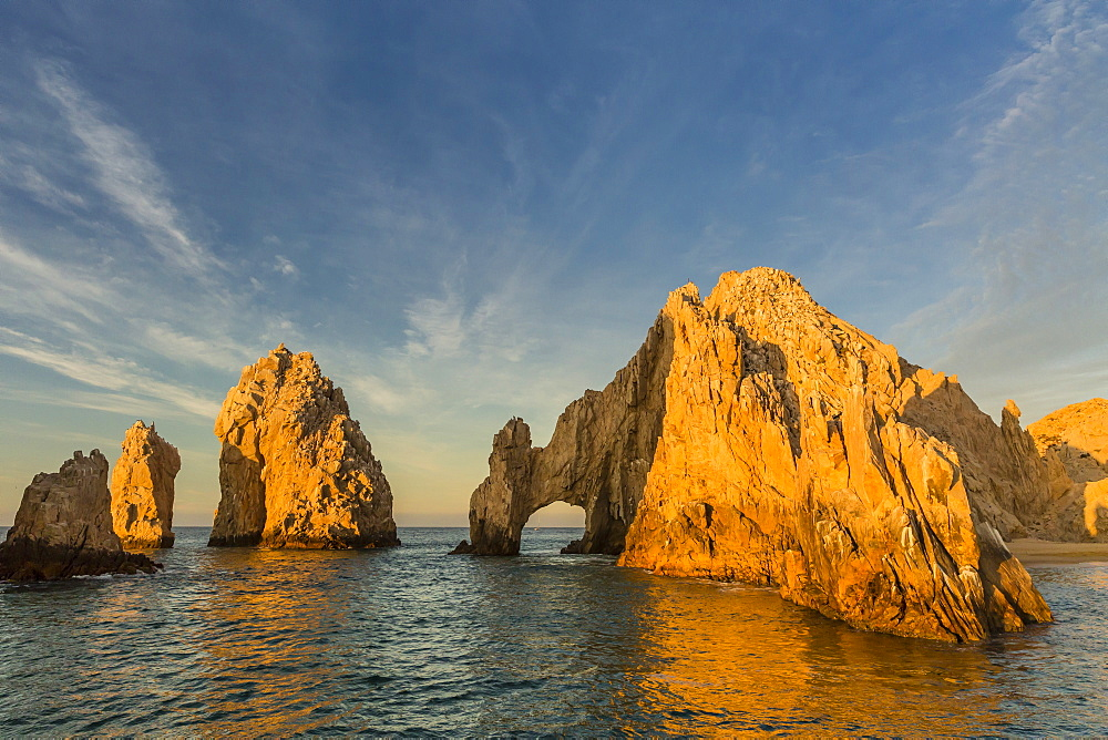 Sunrise at Land's End, Cabo San Lucas, Baja California Sur, Gulf of California, Mexico, North America
