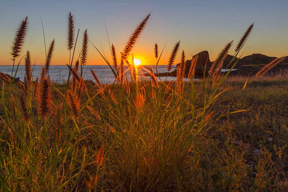 Sunset along the shoreline at Himalaya Beach, Sonora, Mexico, North America