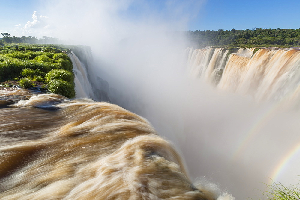 The Devil's Throat (Garganta del Diablo), Iguazu Falls National Park, UNESCO World Heritage Site, Misiones, Argentina, South America