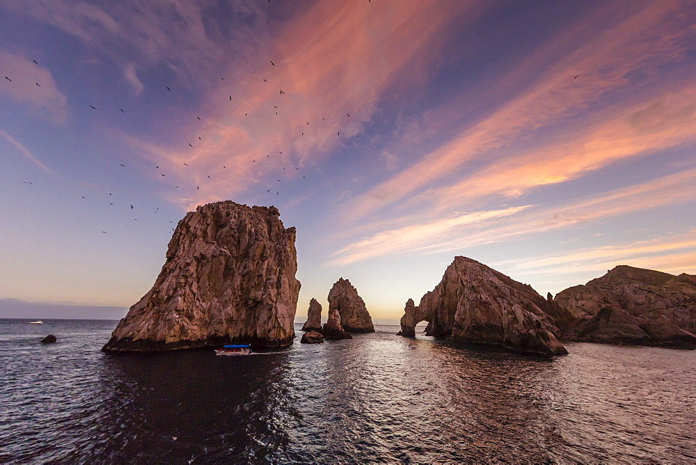 Sunrise over Land's End, Finnisterra, Cabo San Lucas, Baja California Sur, Mexico, North America