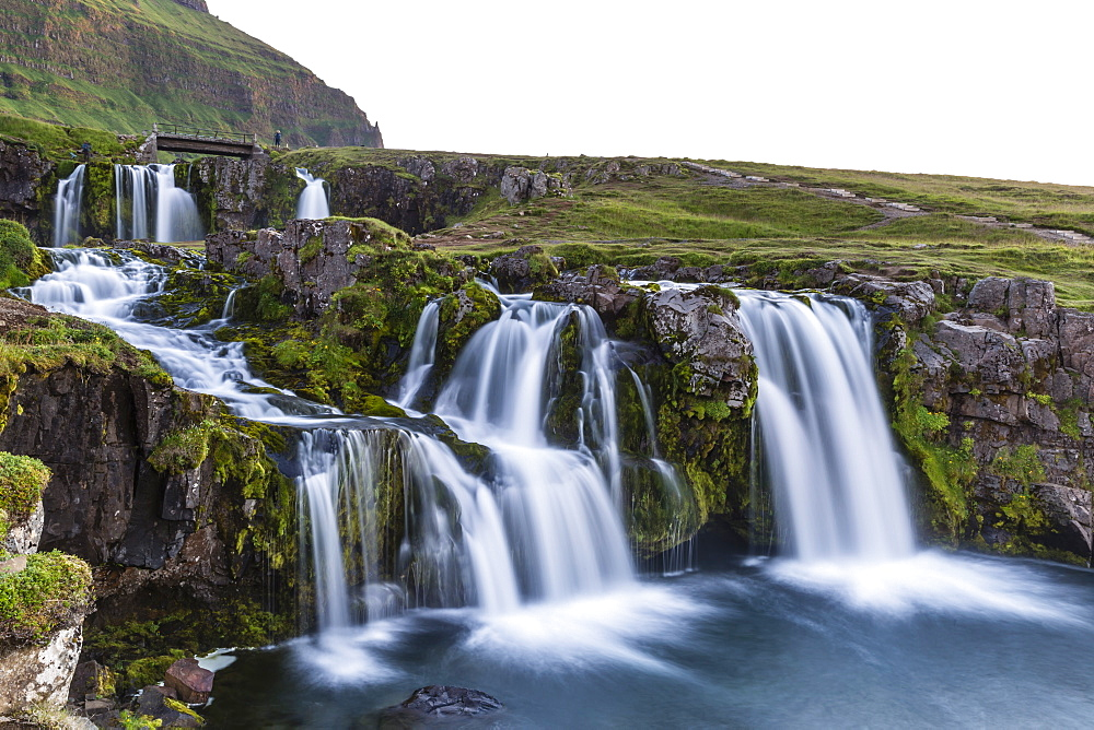 Waterfall near Kirkjufell (Church Mountain), just outside the town of Grundarfjordur on the Snaefellsnes Peninsula, Iceland, Polar Regions