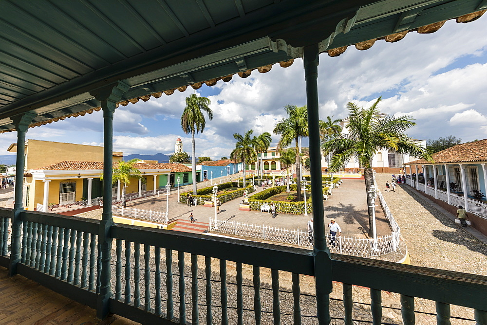 A view of the Plaza Mayor in the UNESCO World Heritage site city of Trinidad, Cuba.