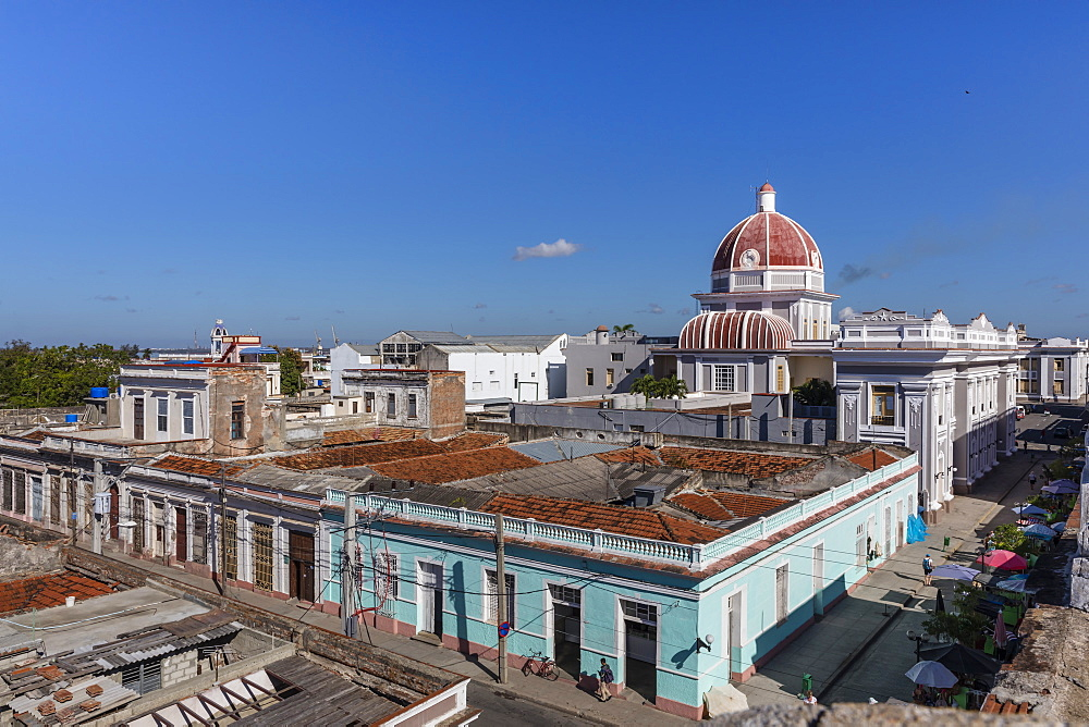 Antiguo Ayuntamiento, home of the provincial government building in Cienfuegos, UNESCO World Heritage Site, Cuba, West Indies, Caribbean, Central America