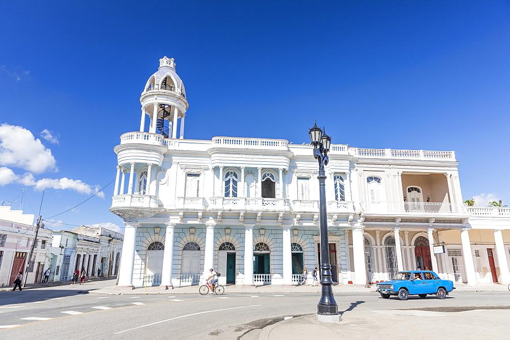 Casa de Cultura in the Palacio Ferrer from Plaza Jose Marti, Cienfuegos, UNESCO World Heritage Site, Cuba, West Indies, Caribbean, Central America