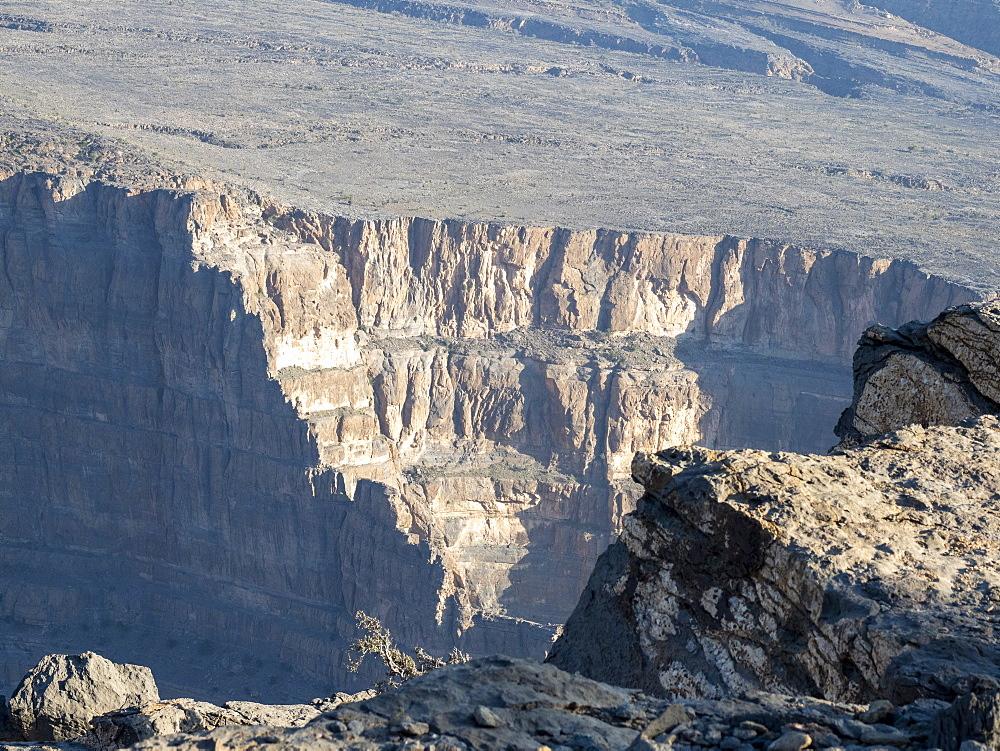 Jebel Shams, the highest mountain of the Hajar range, Sultanate of Oman, Middle East