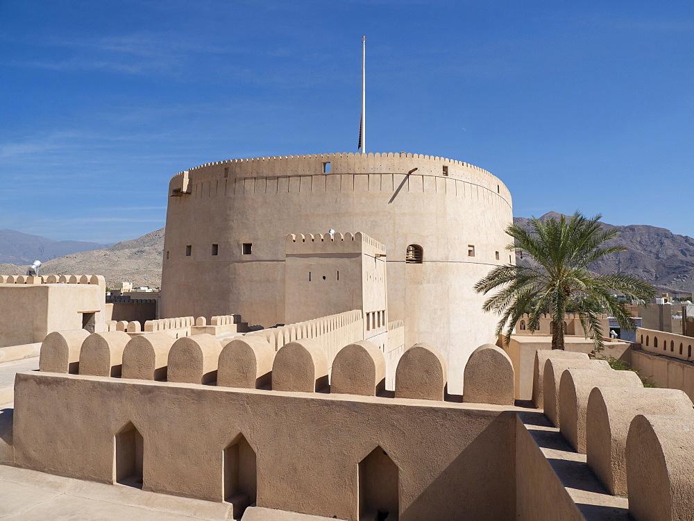 Inside the Nizwa Fort, Nizwa, Sultanate of Oman, Middle East