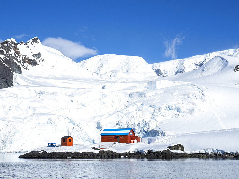 The Argentine Research Station Base Brown at Paradise Harbor, Antarctica, Polar Regions