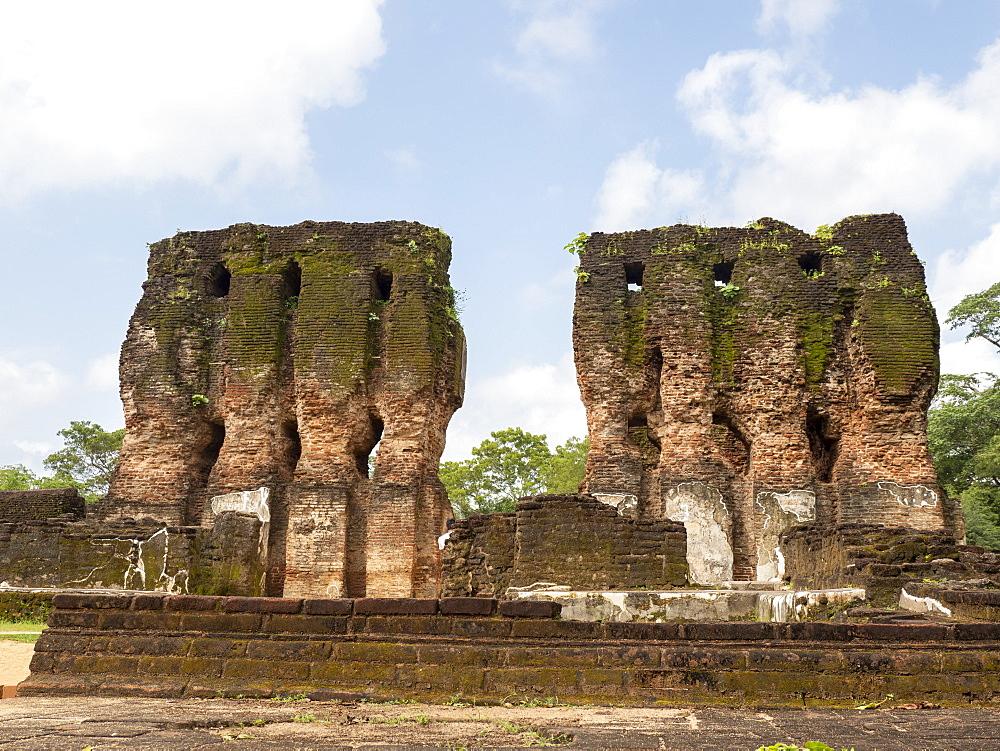 The seven storeyed Palace named Vijayotpaya, Polonnaruwa, UNESCO World Heritage Site, Sri Lanka, Asia