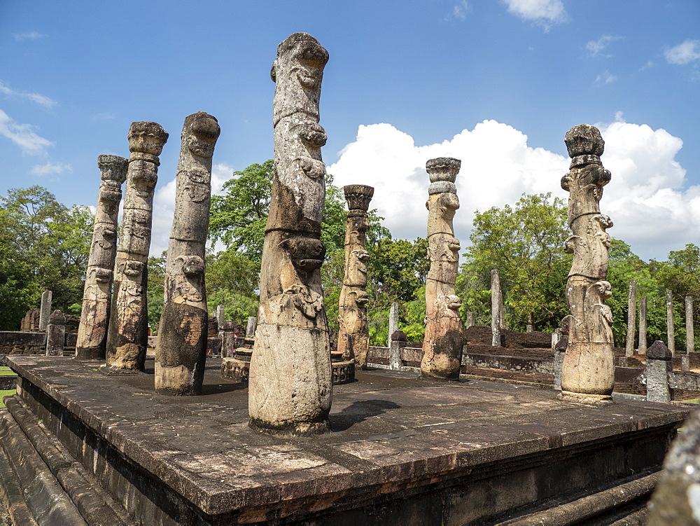 Nissanka Latha Mandapaya, UNESCO World Heritage Site, Polonnaruwa, Sri Lanka, Asia