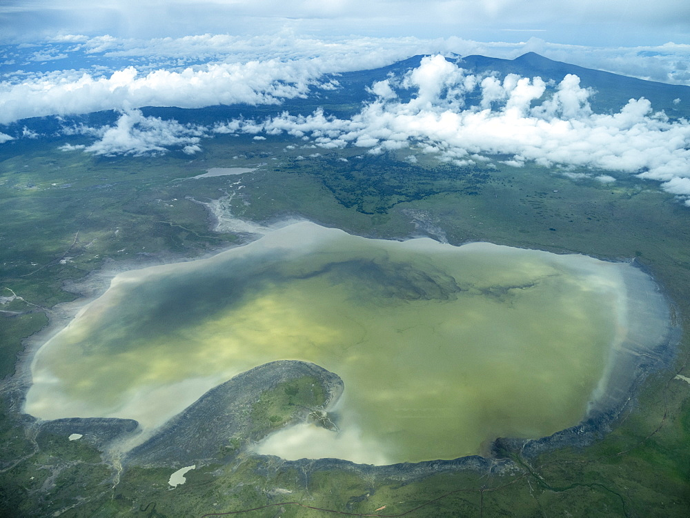 Aerial view of Ngorongoro Crater in the Ngorongoro Conservation Area, UNESCO World Heritage Site, Tanzania, East Africa, Africa - 1112-5508