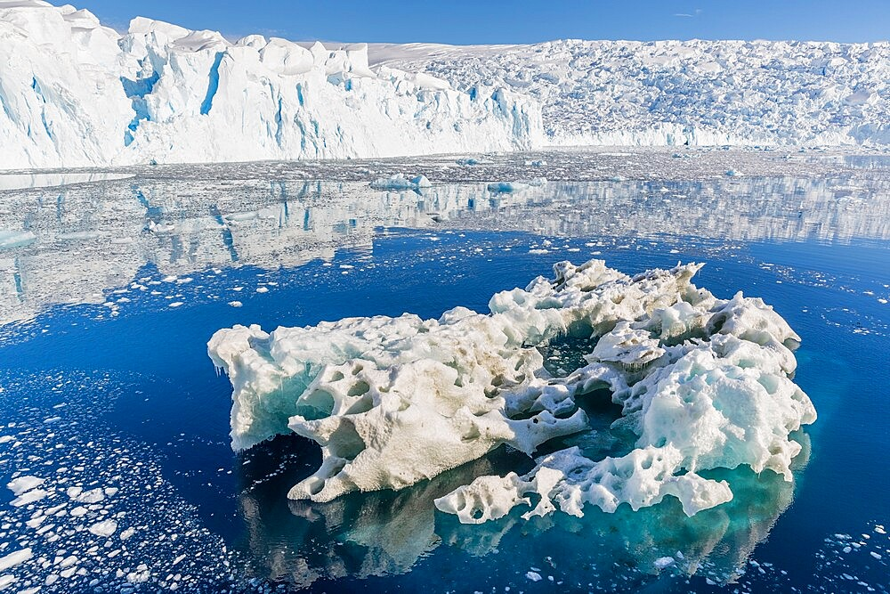 Tidewater glacier and brash ice in Cierva Cove, Hughes Bay, Antarctica, Polar Regions - 1112-5807