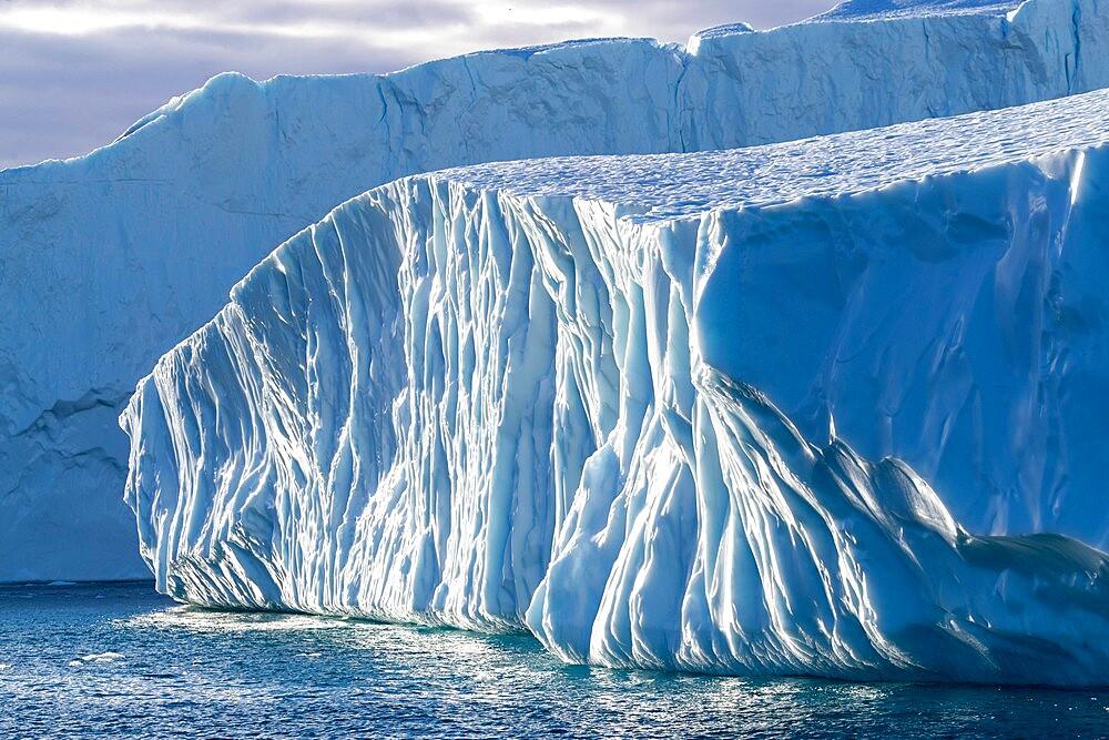 Massive icebergs calved from the Jakobshavn Isbrae glacier, UNESCO World Heritage Site, Ilulissat, Greenland, Polar Regions - 1112-5832