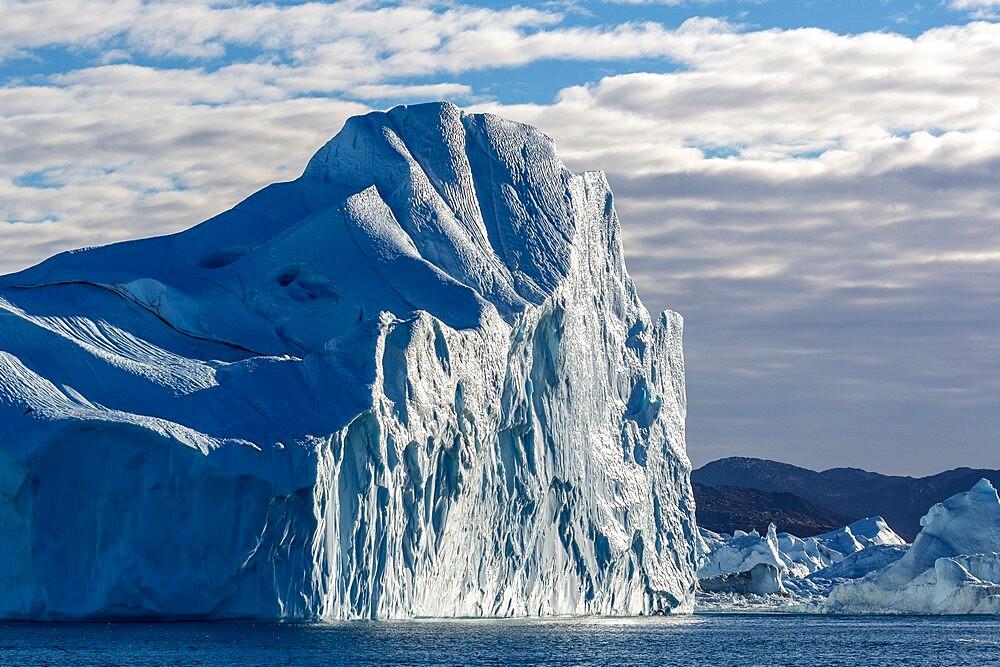 Massive icebergs calved from the Jakobshavn Isbrae glacier, UNESCO World Heritage Site, Ilulissat, Greenland, Polar Regions - 1112-5833