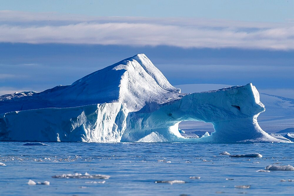 Iceberg calved from glacier from the Greenland Icecap in De Dodes Fjord (Fjord of the Dead), Baffin Bay, Greenland, Polar Regions - 1112-5882