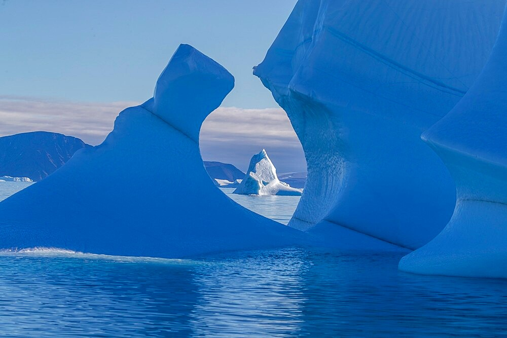 Iceberg calved from glacier from the Greenland Icecap in De Dodes Fjord (Fjord of the Dead), Baffin Bay, Greenland, Polar Regions - 1112-5883