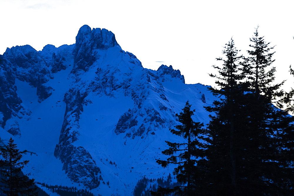 Bischofsmuetze at dusk, Dachstein mountain, Salzburg, Austria - 1113-104865