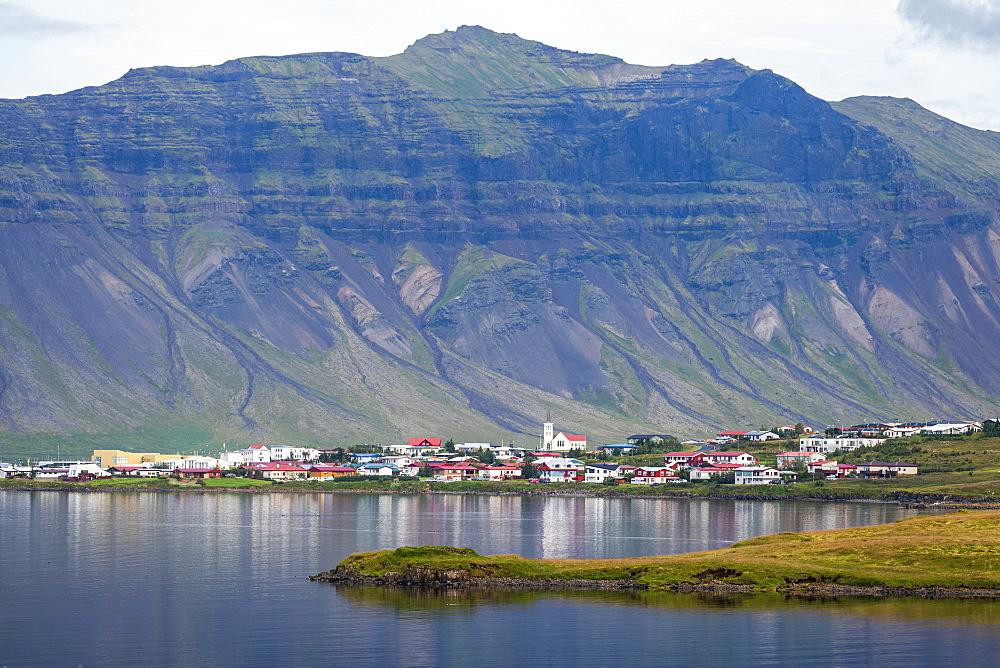 The town of Grundarfjorour, Snaefellsness Peninsula, Iceland