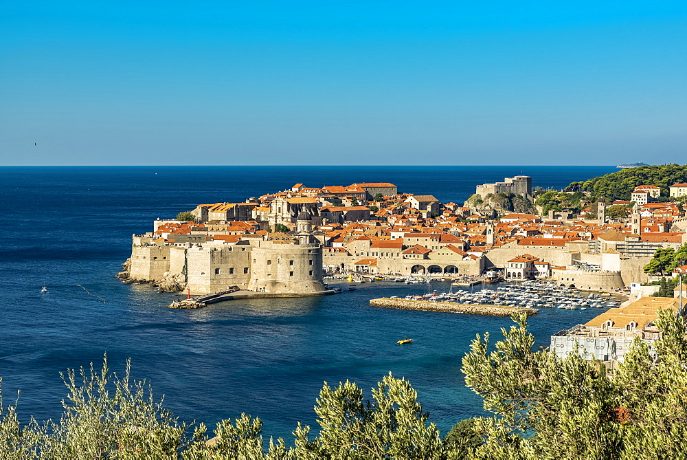 View of Fort Lovrjenac and the Old City of Dubrovnik, Dubrovnik, Dubrovnik-Neretva County, Croatia