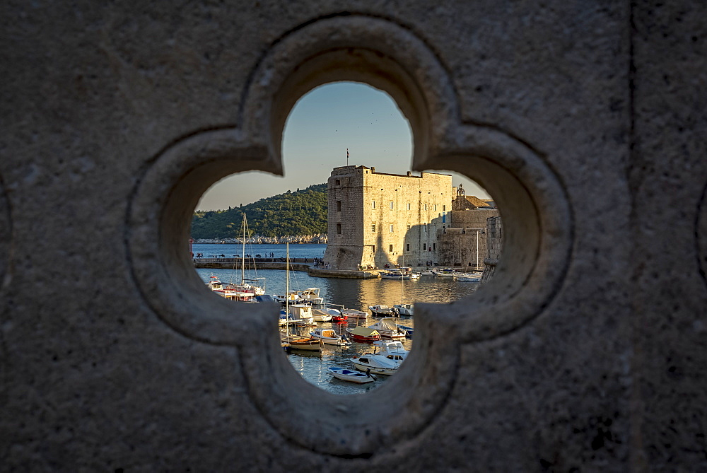 View of St John Fortress and the Old City of Dubrovnik, Dubrovnik-Neretva County, Croatia