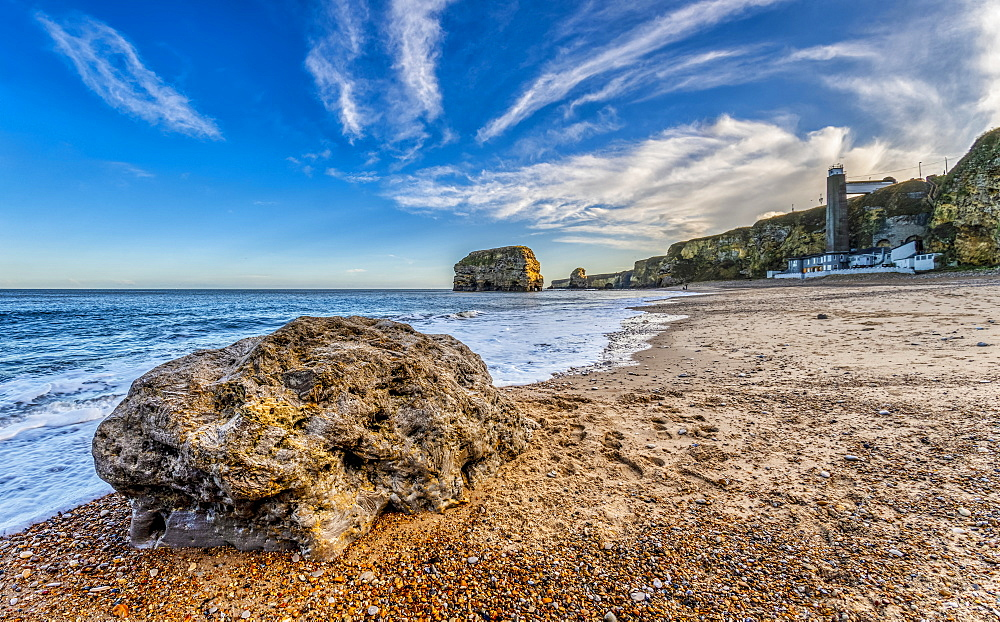 Marsden Grotto, a restaurant along the beach, South Shields, Tyne and Wear, England