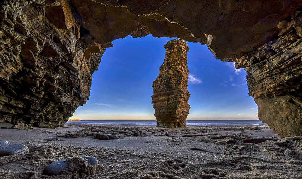 Sea pillar known as Lot's Wife, South Shields, Tyne and Wear, England
