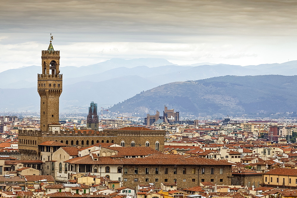 View of Florence, including Palazzo Vecchio, Florence, Italy