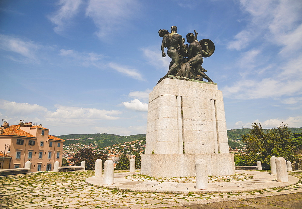 War Monument on San Giusto hill, Trieste, Friuli Venezia Giulia, Italy
