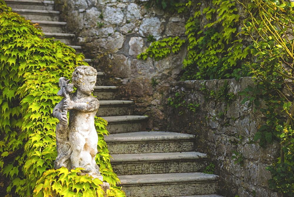 Sculpture in the garden of Duino Castle, Italy