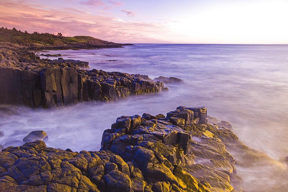 Basalt rock cliffs, Dartmouth Point, Bay of Fundy, Long Island,Nova Scotia, Canada
