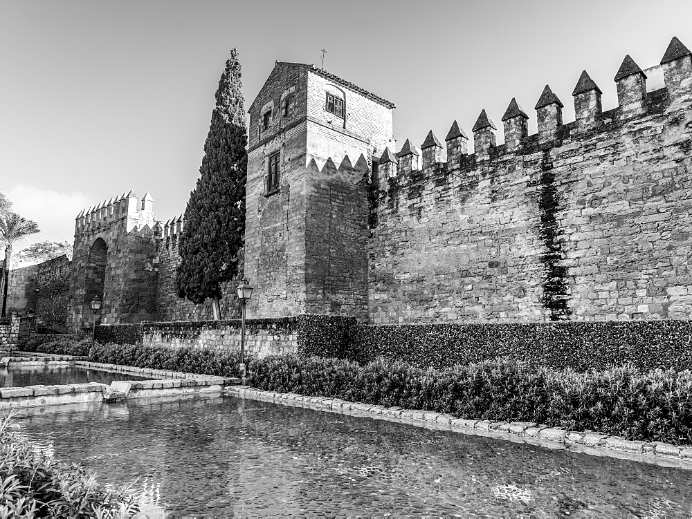 Roman walls of Cordoba, Cordoba, Andalusia, Spain