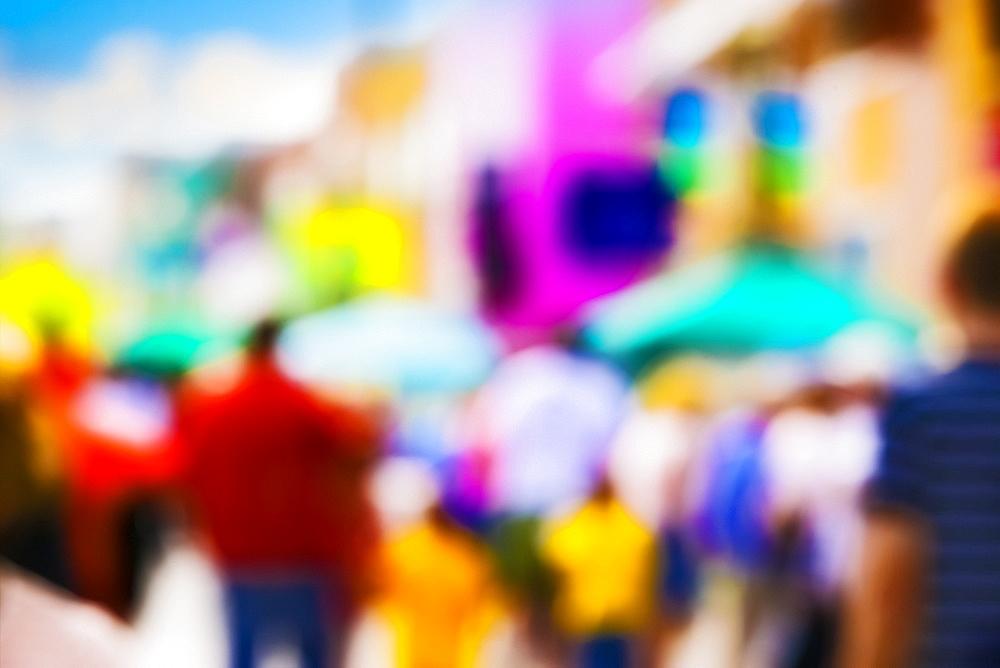 Heavily blurred street scene, Toronto, Ontario, Canada