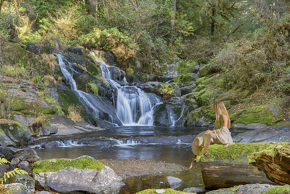 Beaver Creek Falls, where Sweet Creek meets Beaver Creek, Mapleton, Oregon, United States of America