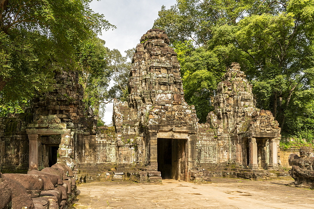Main entrance to Preah Khan temple ruins, Angkor Wat, Siem Reap, Siem Reap Province, Cambodia
