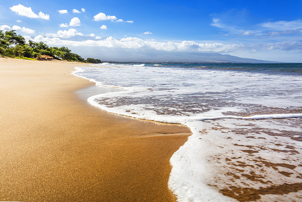 Maui's longest beach, 6 mile long Sugar Beach, Maui, Hawaii, United States of America