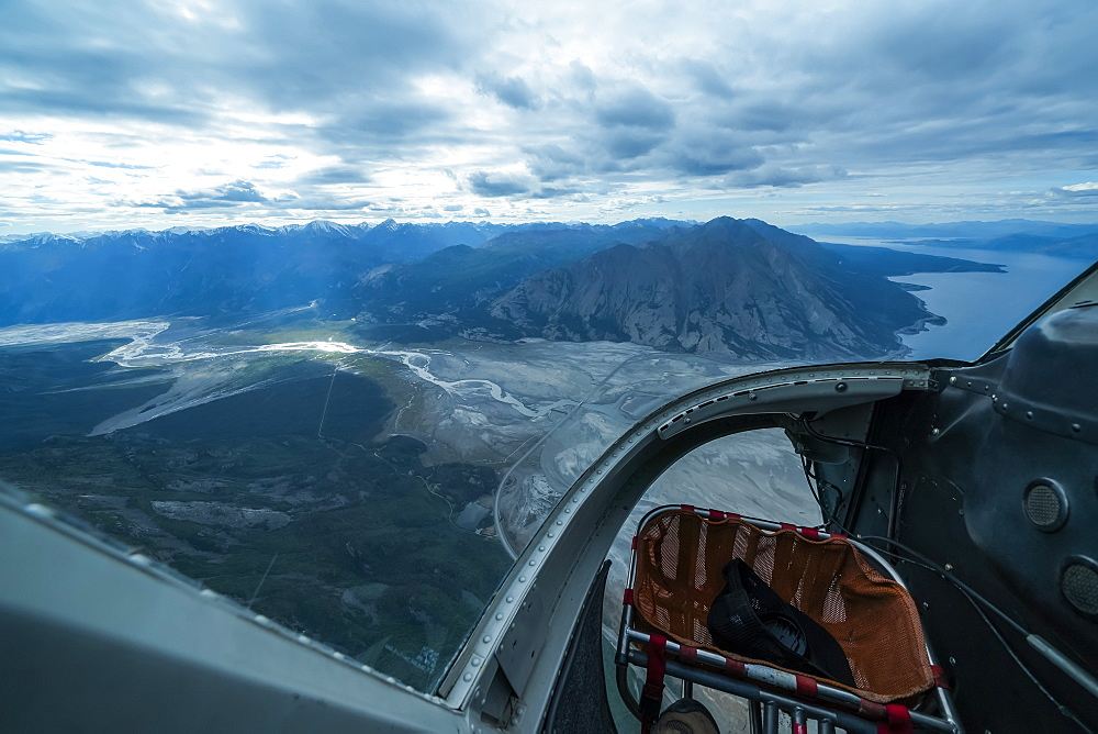 Kluane National Park and Reserve viewed from an airplane, Haines Junction, Yukon, Canada
