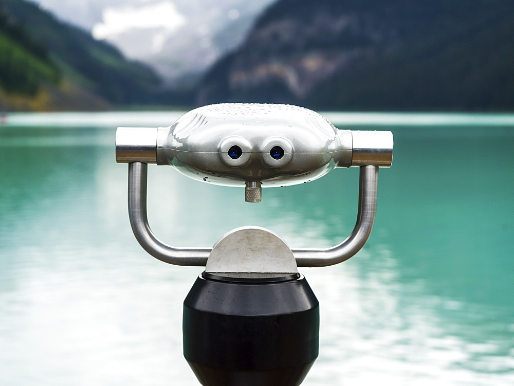 Binoculars at Lake Louise, Banff National Park, Alberta, Canada