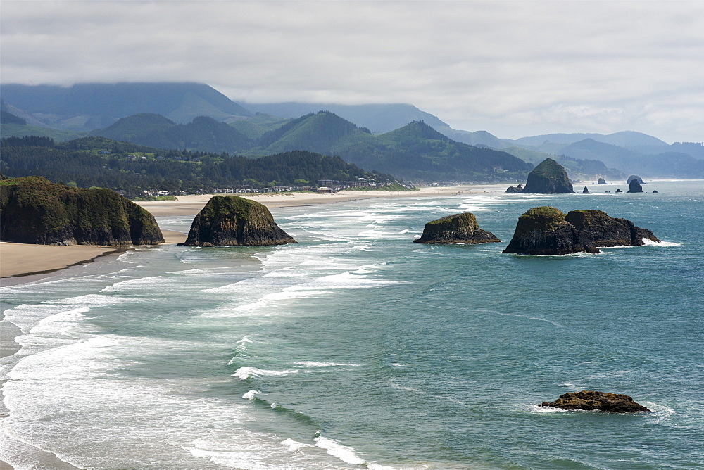 Ecola Point offers a very popular view of the Oregon coast, Cannon Beach, Oregon, United States of America