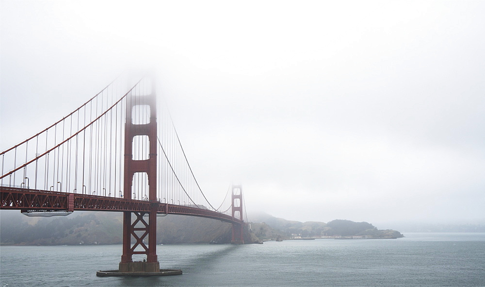 Golden Gate Bridge on a cloudy day, San Francisco, California, United States of America