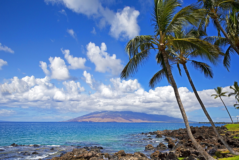 View of West Maui Mountains from Wailea, Wailea, Maui, Hawaii, United States of America