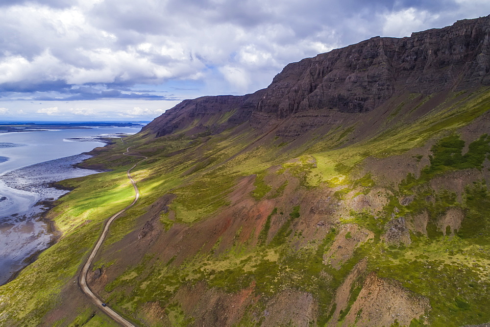 The road winding around Snaefellsness Peninsula, Iceland