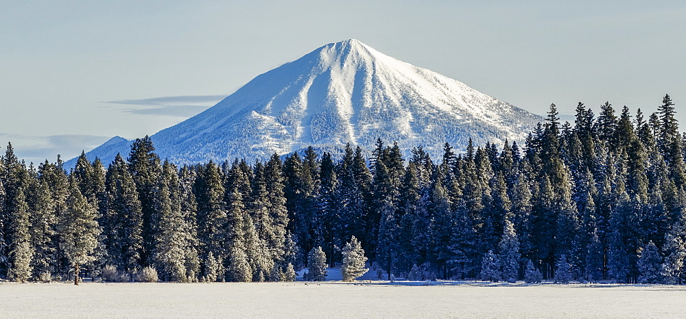 Mount McLoughlin with fresh snow, Oregon, United States of America