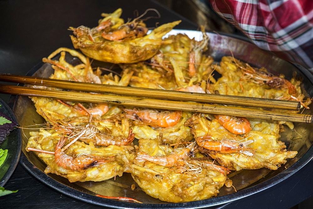 Deep fried shrimp cakes, Hanoi, Hanoi, Vietnam