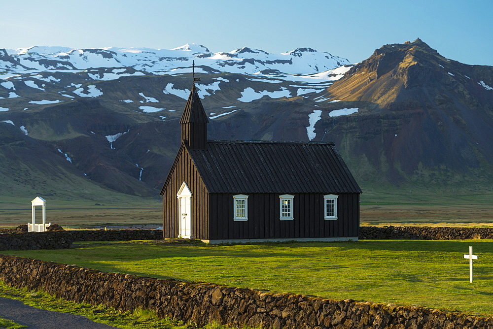 Small church on the Snaefellsnes peninsula, Budir, Iceland