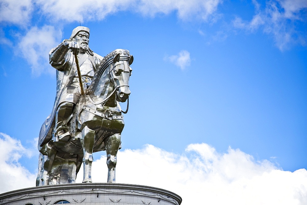 Statue of Chinggis (Genghis) Khan in the Mongolian countryside, Ulaanbaatar,Ulaanbaatar, Mongolia