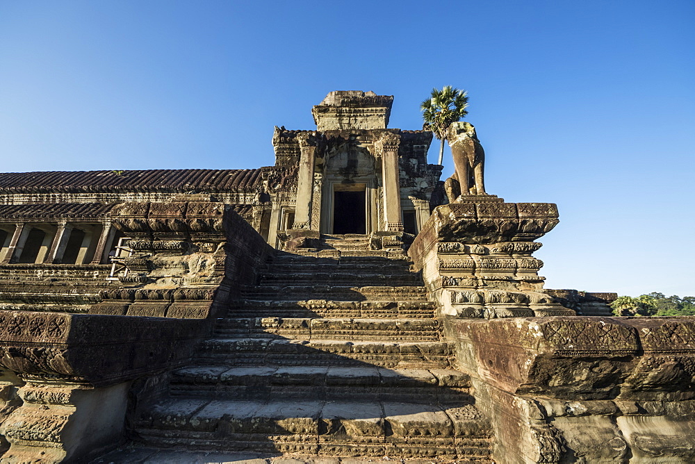 West Gallery of the main temple complex of Angkor Wat, Siem Reap, Cambodia