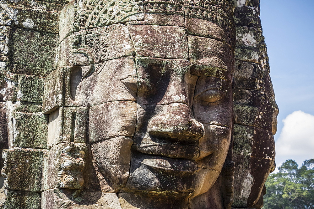 Face tower of the Bayon, Angkor Thom, Siem Reap, Cambodia