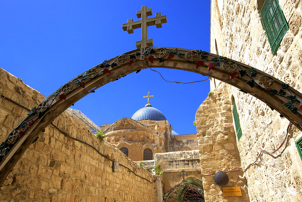 Ethiopian Monastery and Church of The Holy Sepulchre, Old City, UNESCO World Heritage Site, Jerusalem, Israel, Middle East