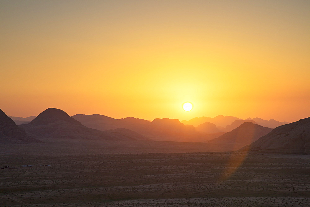 Sunset, Wadi Rum, Jordan, Middle East