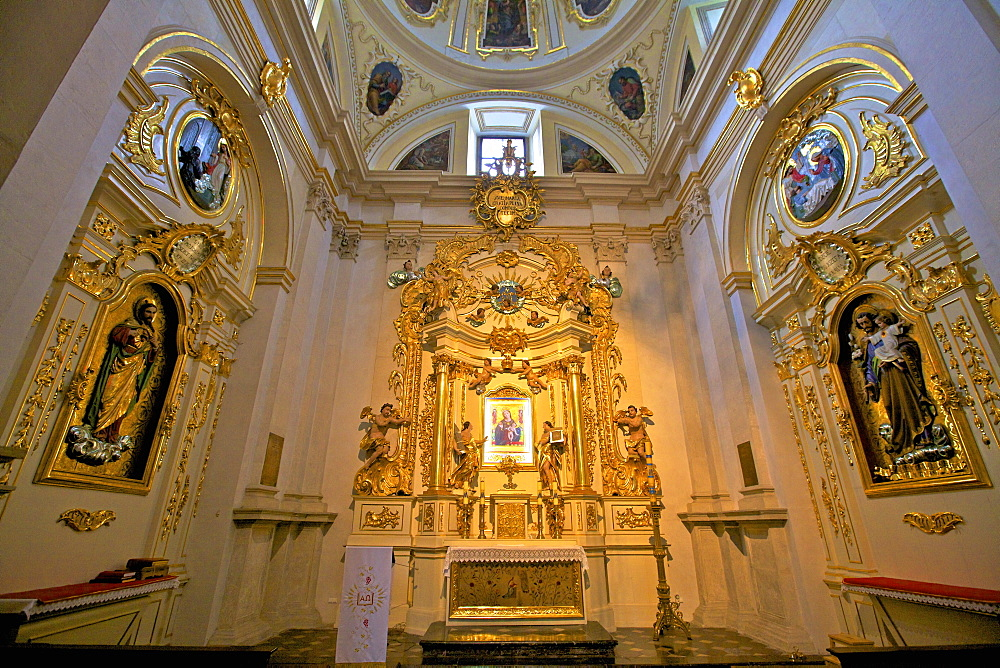 Interior of Corpus Christi Basilica, Kazimierz, Krakow (Cracow), Poland, Europe