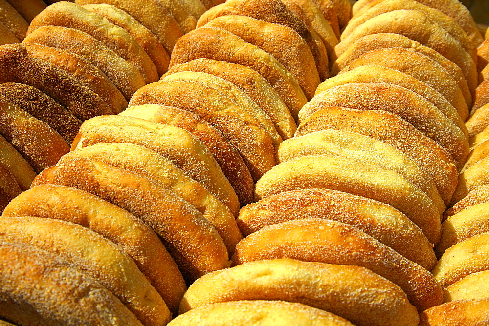 Freshly baked bread, Rabat, Morocco, North Africa, Africa